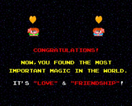 Congratulations - Now you found the most important magic in the world - It's love and friendship!