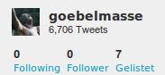 Niemanden mehr followen, keine follower mehr