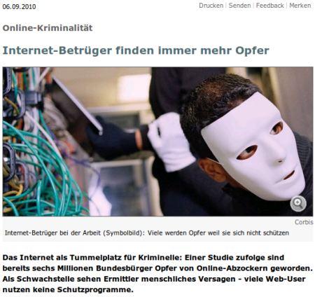 Internet-Betrüger bei der Arbeit (Symbolbild)