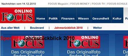 Bildschirmfoto von der focus-webseit
