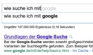 vorschlag: wie suche ich mit google