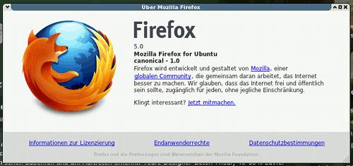Info-dialog firefox 5