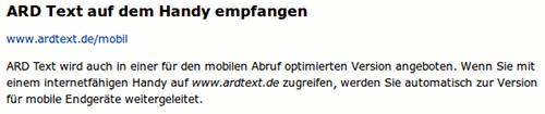 ARD Text auf dem Handy empfangen