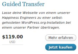 Guided Transfer - Lasse deine Webseite von einem unserer Happiness Engineers zu einer selbst-gehosteten WordPress.org-Installation bei einem unserer Partner übertragen