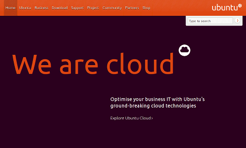 Ubuntu: We are cloud