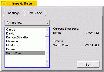 Time Zone: South Pole