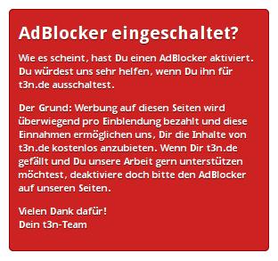 AdBlocker eingeschaltet?