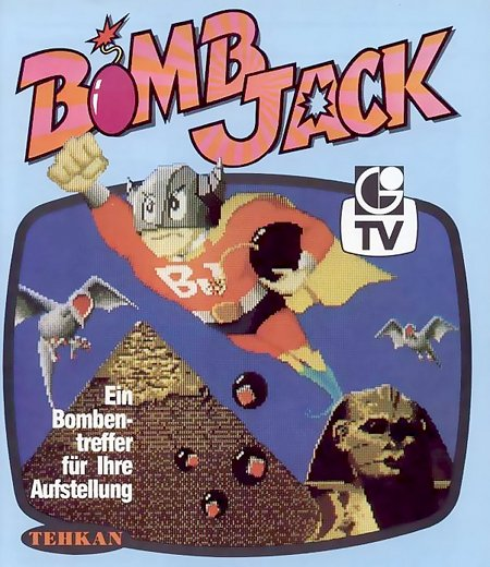 Werbung für Bomb Jack aus dem Jahr 1984