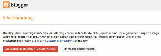 Inhaltswarnung: Der Blog, das sie anzeigen möchten, enthält möglicherweise Inhalte, die nicht jugendfrei sind. Im Allgemeinen überprüft Google weder Blog-Inhalte noch heißen wir die Inhalte dieses oder anderer Blogs gut. (...)