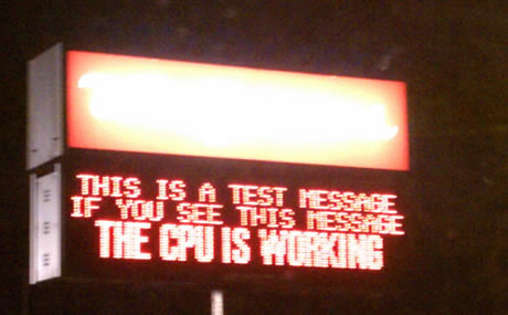 This is a test message. If you see this message, the CPU is working