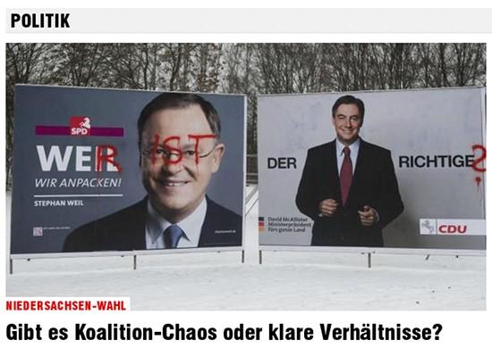 Niedersachsen-Wahl: Gibt es Koalitions-Chaos oder klare Verhältnisse