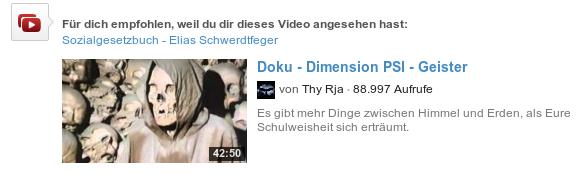Für dich empfohlen, weil du dir dieses Video angesehen hast: Sozialgesetzbuch Elias Schwerdtfeger -- Doku - Dimension PSI - Geister