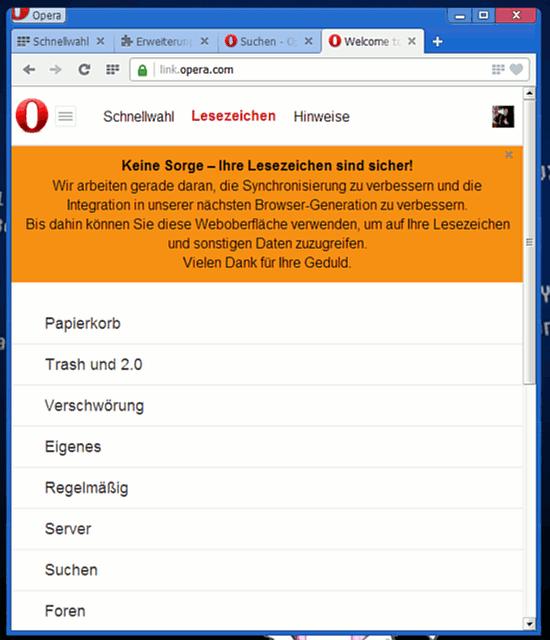 Screenshot Opera 15