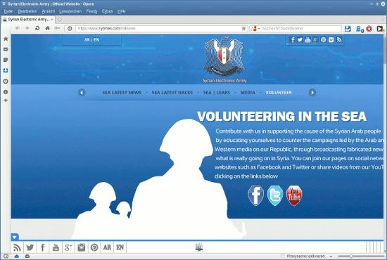 Bildschirmfoto der gepwnten webseit