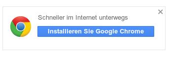Schneller im Internet unterwegs. Installieren sie Google Chrome