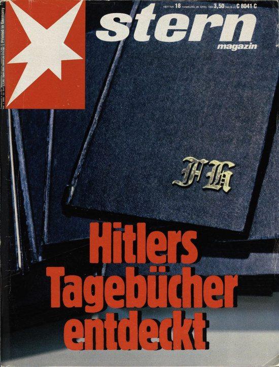 Titelseite des 'stern' mit 'Hitlers Tagebücher entdeckt'