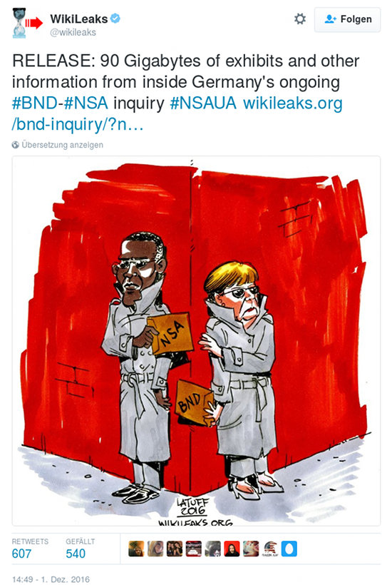 RELEASE: 90 Gigabytes of exhibits and other information from inside Germany's ongoing #BND-#NSA inquiry #NSAUA https://wikileaks.org/bnd-inquiry/?nsa …