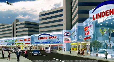 Altes Reklamebild für den Umbau des Ihmezentrums zum Lindenpark aus meinem Archiv