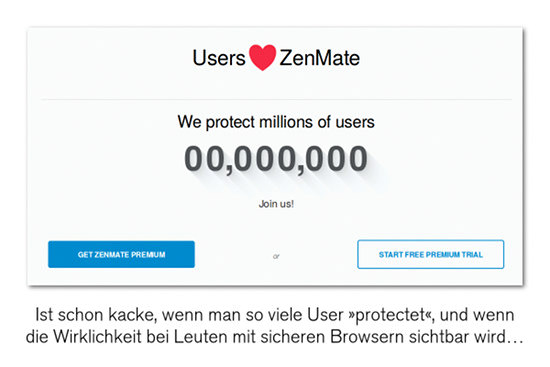 User lieben ZenMate -- We protect millions of users -- 00,000,000 -- Join us! -- [Get ZenMate Premium] -- or -- [Start Free Premium Trial]