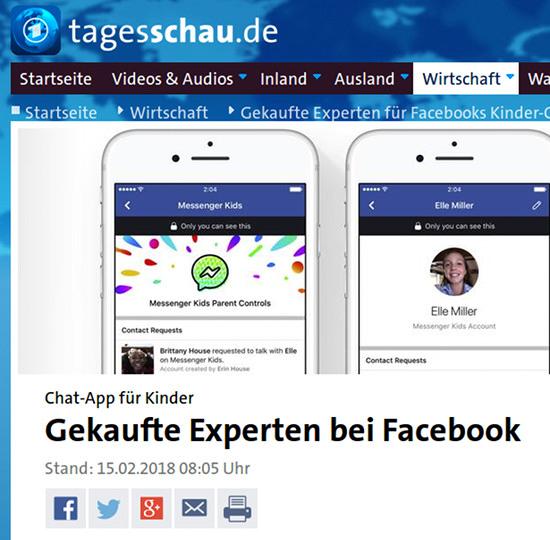 Chat-App für Kinder: Gekaufte Experten bei Facebook