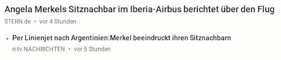 Stern.de: Angela Merkels Sitznachbar im Iberia-Airbus berichtet über den Flug
