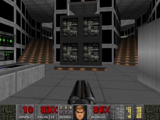 Bildschirmfoto aus doom, ein spiel aus dem jahr 1993