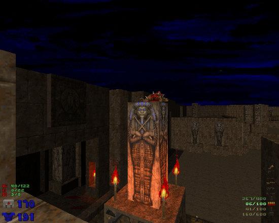 Bildschirmfoto aus DOOM aus dem jahr 1993