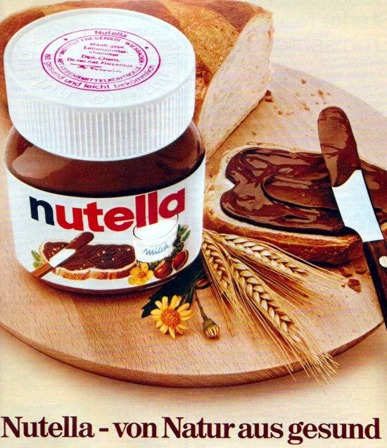 Nutella-Werbung aus dem Jahr 1975: Nutella -- von Natur aus gesund