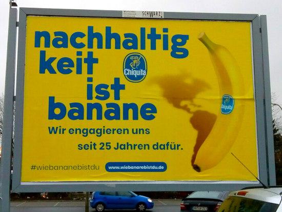 Nachhaltigkeit ist Banane. Wir engagieren uns seit 25 Jahren dafür. Chiquita