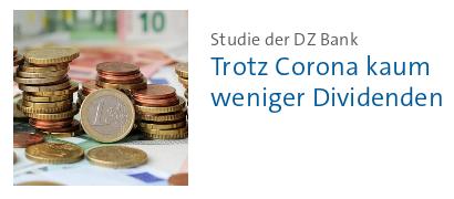 Bildschirmfoto Tagesschau -- Studien der DZ-Bank: Trotz Corona kaum weniger Dividenten