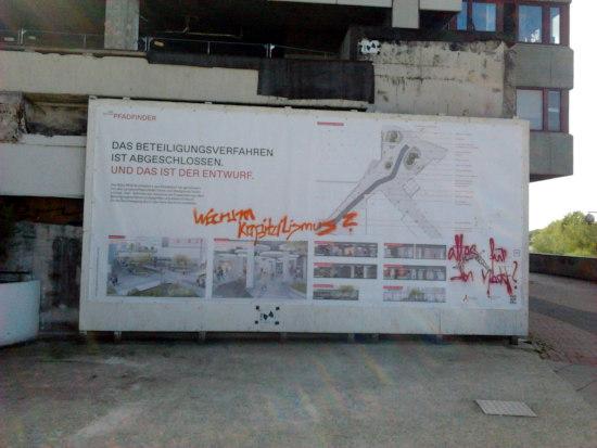 Aktuelles foto aus der ruine des ihmezentrums in hannover-linden